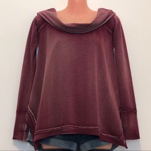 NWT Free People Long Sleeve Cowl Neck Top